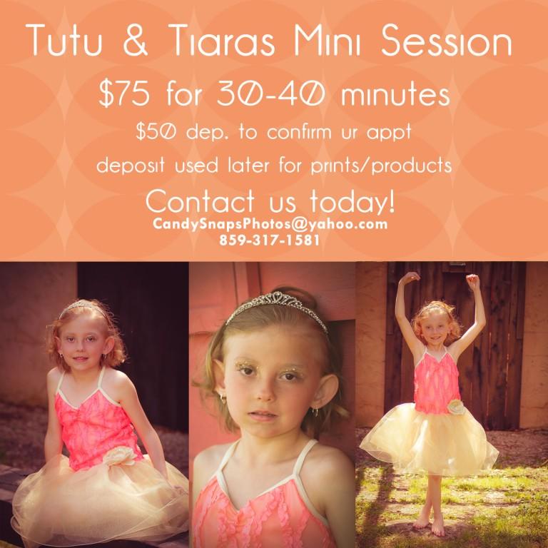 tutu & tiara mini session